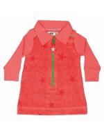 Kik-Kid jurk velvet sterren peach