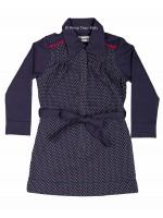Kik-Kid jurk jersey dot dark blue