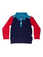 Kik-Kid polo l/s dark blue/red