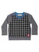 Kik-Kid longsleeve block grey/black