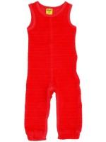 Hippe roze velours jumpsuit zonder mouwen van het hippe merk Duns Sweden.   De jumpsuit van Duns Sweden is gemaakt van GOTS gecertificeerd 100% biologisch katoen. Dat is wel zo prettig!