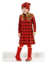 Duns Sweden jurk ladybird rood