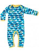 Jumpsuit met golven en vissen van het Zweedse merk Duns Sweden.