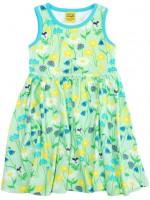 Zachtgroene jurk met bloemen van het Zweedse merk Duns Sweden.