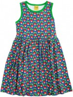 Duns Sweden jurk n/s radijs blauw
