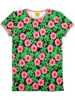 Duns Sweden t-shirt bloemen paars
