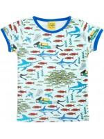 T-shirt met duikers en vissen van het Zweedse merk Duns Sweden.