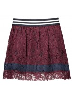 Like Flo plisse rok lace bordeaux