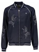 Like Flo satin bird summer jacket navy