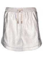 Like Flo silver imi leather skirt