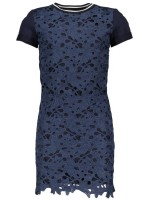 Like Flo flower lace ss dress navy