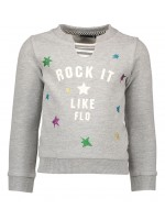 Like Flo ecru melee sweater stars