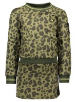 Like Flo suede animal dress army