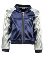 Like Flo baseball jacket metalic colour blocking navy