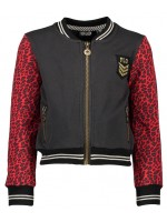 Like Flo baseball jacket crepe jaquard red animal