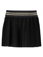 Like Flo skirt plisse glitter satin black