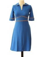 Froy & Dind jurk Milou Cyaan Blue