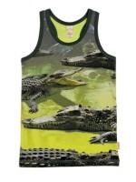 Hemd met krokodillen van het hippe Nederlandse merk Wild.  Het hemd is gemaakt van Oekotex gecertificeerd katoen.