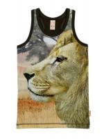 Hemd met leeuw van het hippe Nederlandse merk Wild.  Het hemd is gemaakt van Oekotex gecertificeerd katoen.