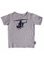 Grijs t-shirt met Erik de viking in een helikopter van het Deense merk Danefae.