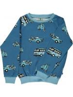 Smafolk sweater busje/scooter blauw
