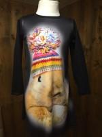 Wooden Buttons jurk Subli konijn