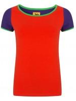 Halsoverkop t-shirt multi rood