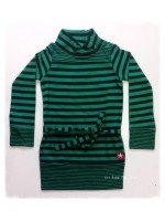 Kik-Kid jurk stripe jersey groen/zwart