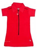Kik-Kid jurk terry/jersey ss red
