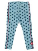 Kik-Kid legging jersey print star l.blue/green