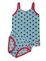 Kik-Kid ondergoed jersey print girl l.blue/green