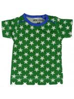 Kik-Kid t-shirt jersey print star green/white baby
