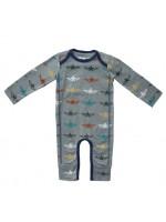 Kik-Kid jumpsuit print star wings - light blue