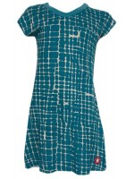 Kik-Kid, Kik Kid, Kik*Kid, kinderkleding, jongenskleding, kinderkleding Culemborg, kik-kid online kopen, meisjeskleding kopen in Culemborg, jurk, kleedje, dress  Jurk met blauwe print van het merk Kik-Kid.