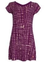 Kik-Kid jurk print block purple