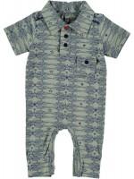 Kik-Kid jumpsuit summer starwings grey-blue/black