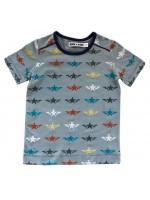 Blauwgrijs t-shirt met sterren van het merk Kik-Kid.