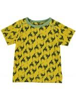 Kik-Kid t-shirt bird print yellow/d. green
