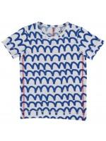 Kik-Kid t-shirt waves cobalt