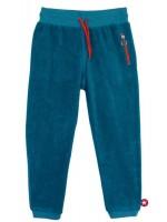Blauwe badstof broek van het merk Kik-Kid.