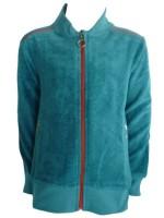 Blauw badstof vest met rode rits van het merk Kik-Kid.