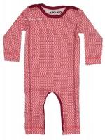 Kik-Kid jumpsuit jersey print star white/red