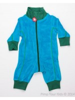 Kik-Kid jumpsuit velour blue