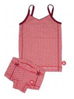 Kik-Kid ondergoed jersey print girl white-red