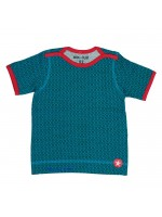 Kik-Kid t-shirt ss jersey print star blue baby