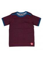 Kik-Kid t-shirt ss jersey print star dark red