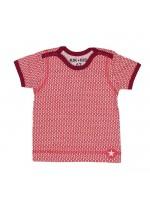 Kik-Kid t-shirt ss jersey print star white-red
