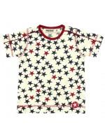Trendy wit t-shirt met sterren van het Nederlandse merk Kik-Kid.