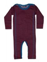 Kik-Kid jumpsuit jersey print star dark red