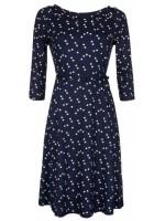 Blauwe jurk met print van het merk King Louie.